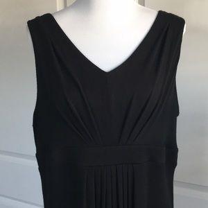 LOFT Dresses - Loft Pleated Black Maxi Dress XL